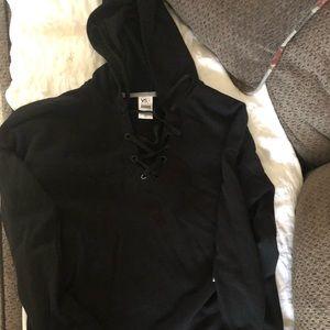 Victoria's Secret lace criss cross sweatshirt